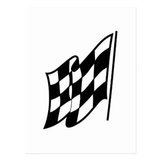 Carte Postale Drapeau de emballage Checkered
