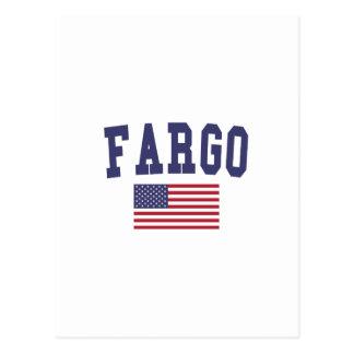 Carte Postale Drapeau de Fargo USA