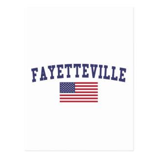Carte Postale Drapeau de Fayetteville AR USA