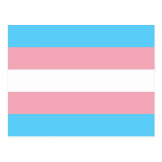 Carte Postale Drapeau de fierté de transsexuel