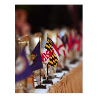 Carte Postale Drapeau de foyer du Maryland avec d'autres états