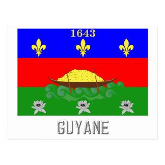 Carte Postale Drapeau de Guyane avec le nom