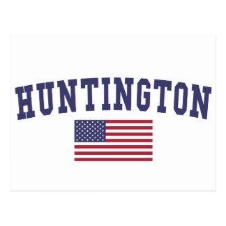 Carte Postale Drapeau de Huntington USA