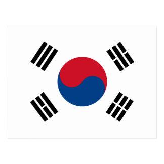 Carte Postale Drapeau de la Corée du Sud