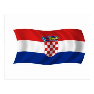 Carte Postale Drapeau de la Croatie