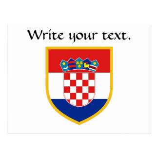 Carte Postale Drapeau de la Croatie personnalisé