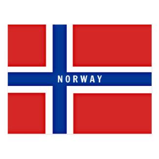 Carte Postale Drapeau de la Norvège