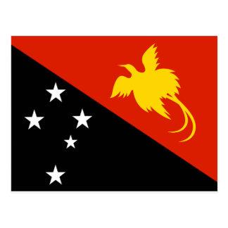 Carte Postale Drapeau de la Papouasie-Nouvelle-Guinée