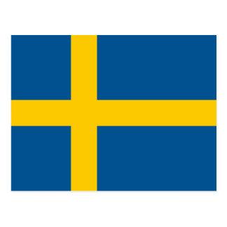 Carte Postale Drapeau de la Suède