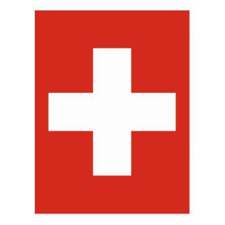 Carte Postale Drapeau de la Suisse - meurent le der Schwe de