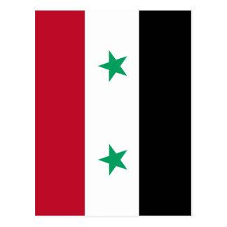 Carte Postale Drapeau de la Syrie