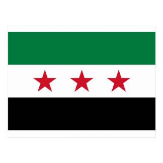 Carte Postale Drapeau de la Syrie - drapeau syrien de