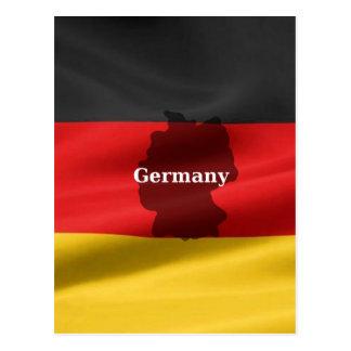 Carte Postale Drapeau de l'Allemagne