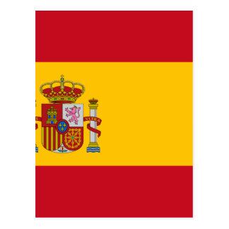 Carte Postale Drapeau de l'Espagne - le Bandera de España -