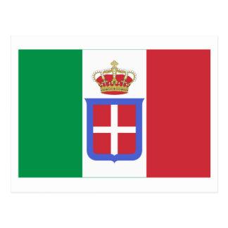 Carte Postale Drapeau de l'Italie (1861-1946)
