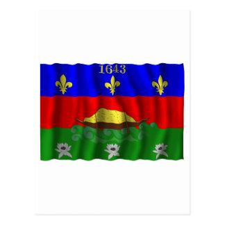 Carte Postale Drapeau de ondulation de Guyane