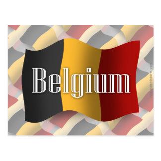 Carte Postale Drapeau de ondulation de la Belgique