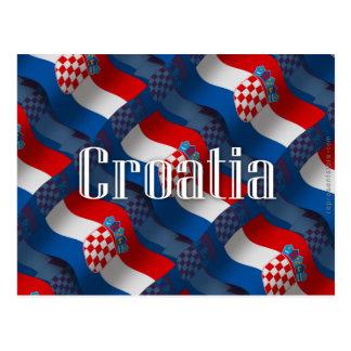 Carte Postale Drapeau de ondulation de la Croatie