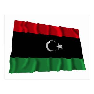 Carte Postale Drapeau de ondulation de la Libye