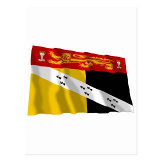 Carte Postale Drapeau de ondulation de la Norfolk