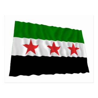 Carte Postale Drapeau de ondulation de la Syrie (1932-1958 et