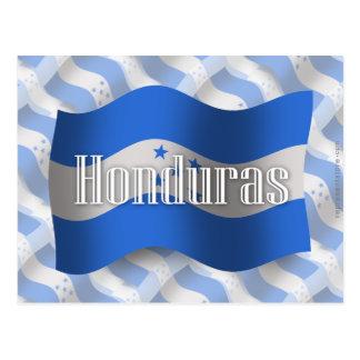 Carte Postale Drapeau de ondulation du Honduras