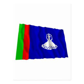 Carte Postale Drapeau de ondulation du Lesotho (1966-1987)