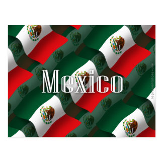Carte Postale Drapeau de ondulation du Mexique