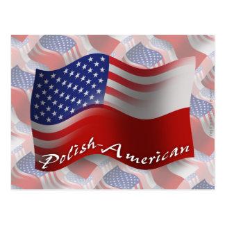 Carte Postale Drapeau de ondulation Poli-Américain