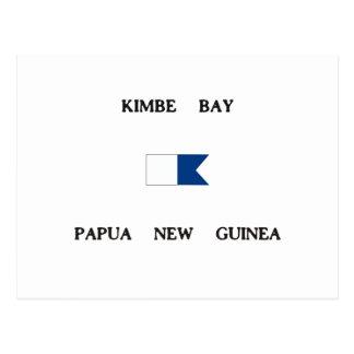 Carte Postale Drapeau de piqué de la Papouasie-Nouvelle-Guinée