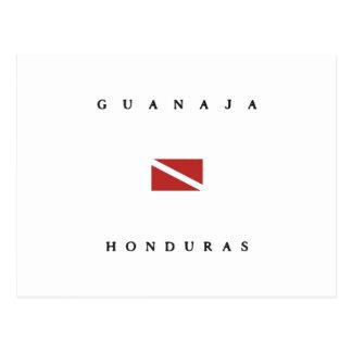 Carte Postale Drapeau de piqué de scaphandre de Guanaja Honduras