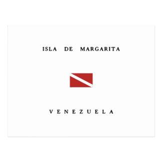 Carte Postale Drapeau de piqué de scaphandre d'Isla De Margarita