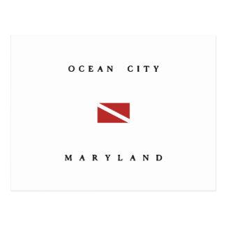 Carte Postale Drapeau de piqué de scaphandre du Maryland de