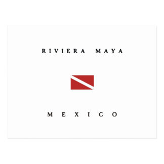 Carte Postale Drapeau de piqué de scaphandre du Mexique de Maya