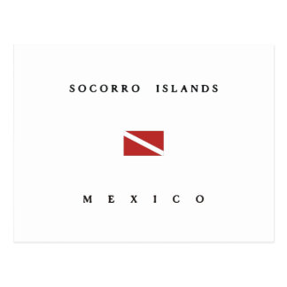 Carte Postale Drapeau de piqué de scaphandre du Mexique d'îles