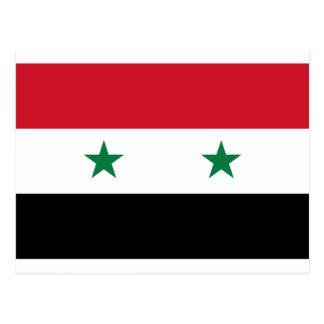 Carte Postale Drapeau de République arabe syrienne - drapeau de