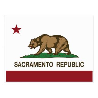 Carte Postale Drapeau de République de Sacramento