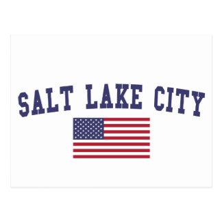 Carte Postale Drapeau de Salt Lake City USA
