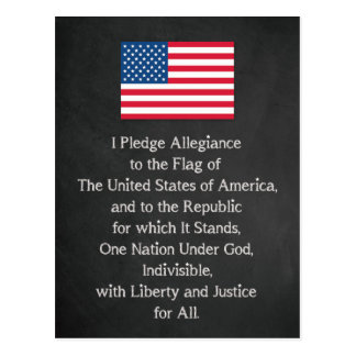 Carte Postale Drapeau de serment de fidélité des Etats-Unis
