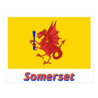 Carte Postale Drapeau de Somerset avec le nom