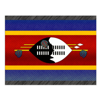 Carte Postale Drapeau dépouillé moderne de Swazi