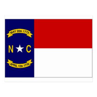Carte Postale Drapeau des Etats-Unis la Caroline du Nord