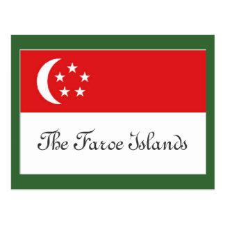 Carte Postale Drapeau des Iles Féroé