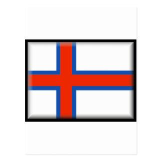 Carte Postale Drapeau des Iles Féroé (Danemark)