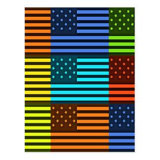 Carte Postale Drapeau drôle des Etats-Unis