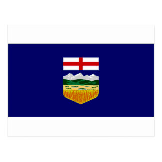 Carte Postale Drapeau du Canada Alberta