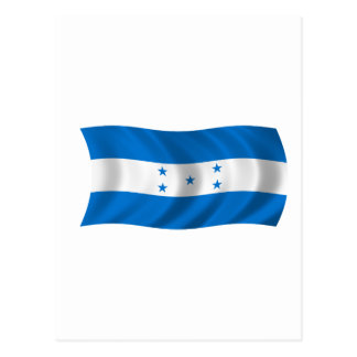 Carte Postale Drapeau du Honduras