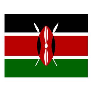 Carte Postale Drapeau du Kenya