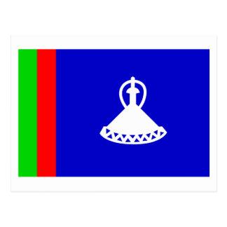 Carte Postale Drapeau du Lesotho (1966-1987)