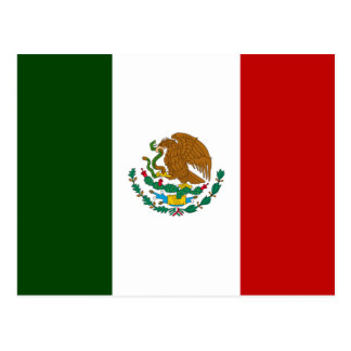 Carte Postale Drapeau du Mexique